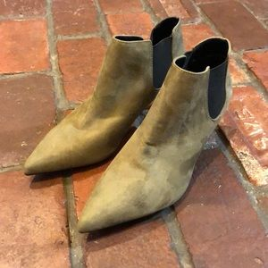 Zara Pull-On Suede Booties Size 6.5